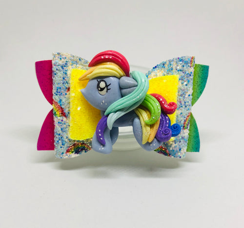 Pony Rainbow Dash Clay Bow