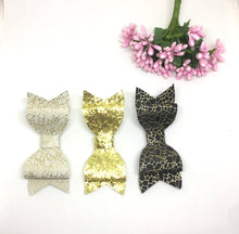 Load image into Gallery viewer, Leatherette Glitter Bow Trio