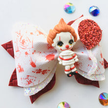 Load image into Gallery viewer, Clay It Clown Halloween Bow