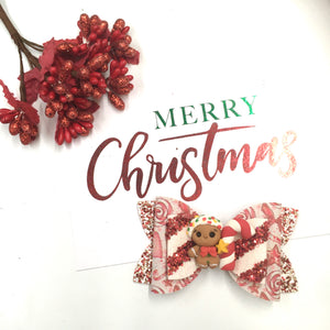 Christmas Gingerbread Clay bow
