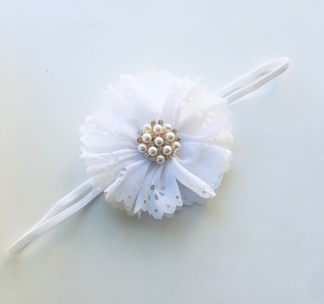 Single White Floral bow