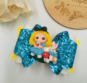 Princess Alice in Wonderland Clay bow