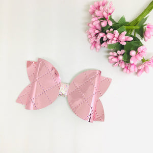 Metallic Shiny Pink bow