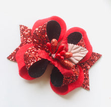 Load image into Gallery viewer, Christmas Red Posey Bow
