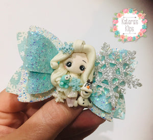 Elsa Frozen 2 Clay bow