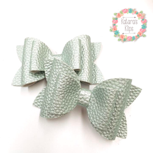 Pastel Mint Green Double Bow