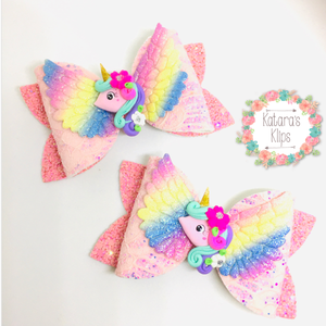 Rainbow Unicorn Bow