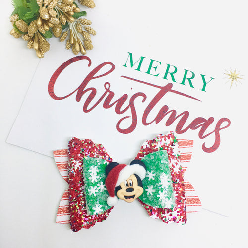Christmas Friends Mickey bow