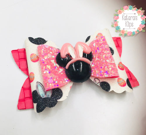 Minnie Easter bunny Bow