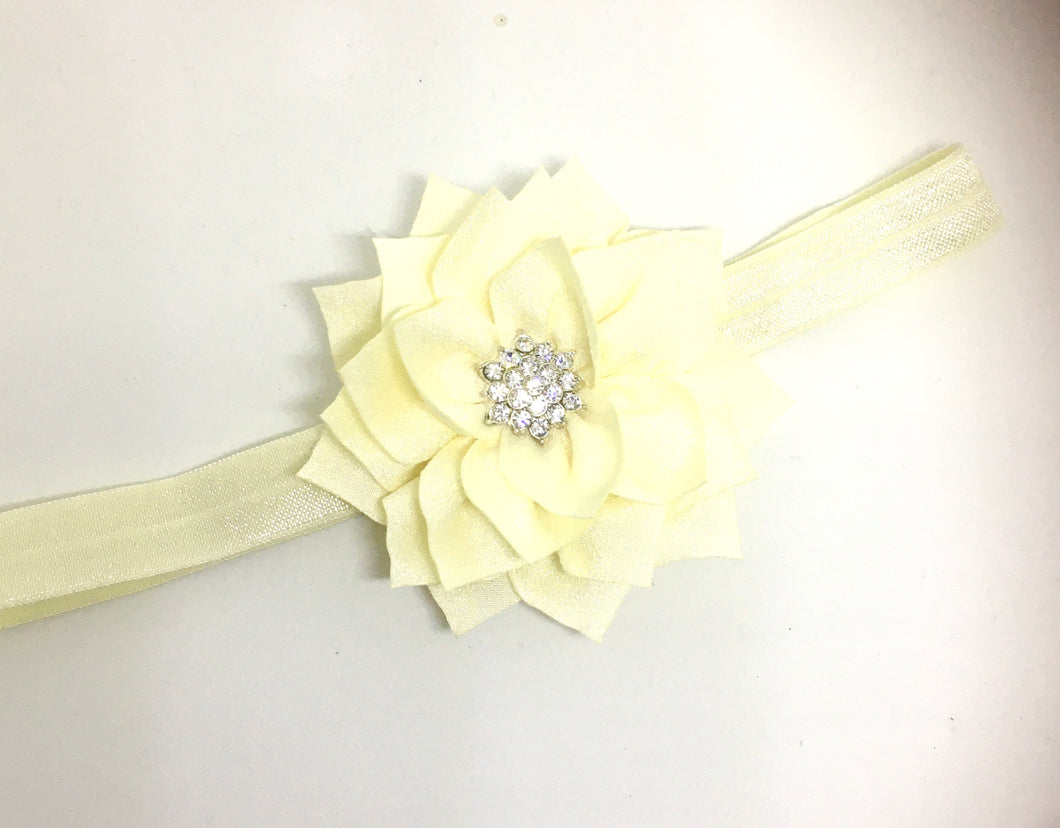 Ivory Diamonte Flower bow