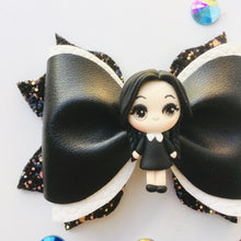Load image into Gallery viewer, Clay Wednesday Addams Bow