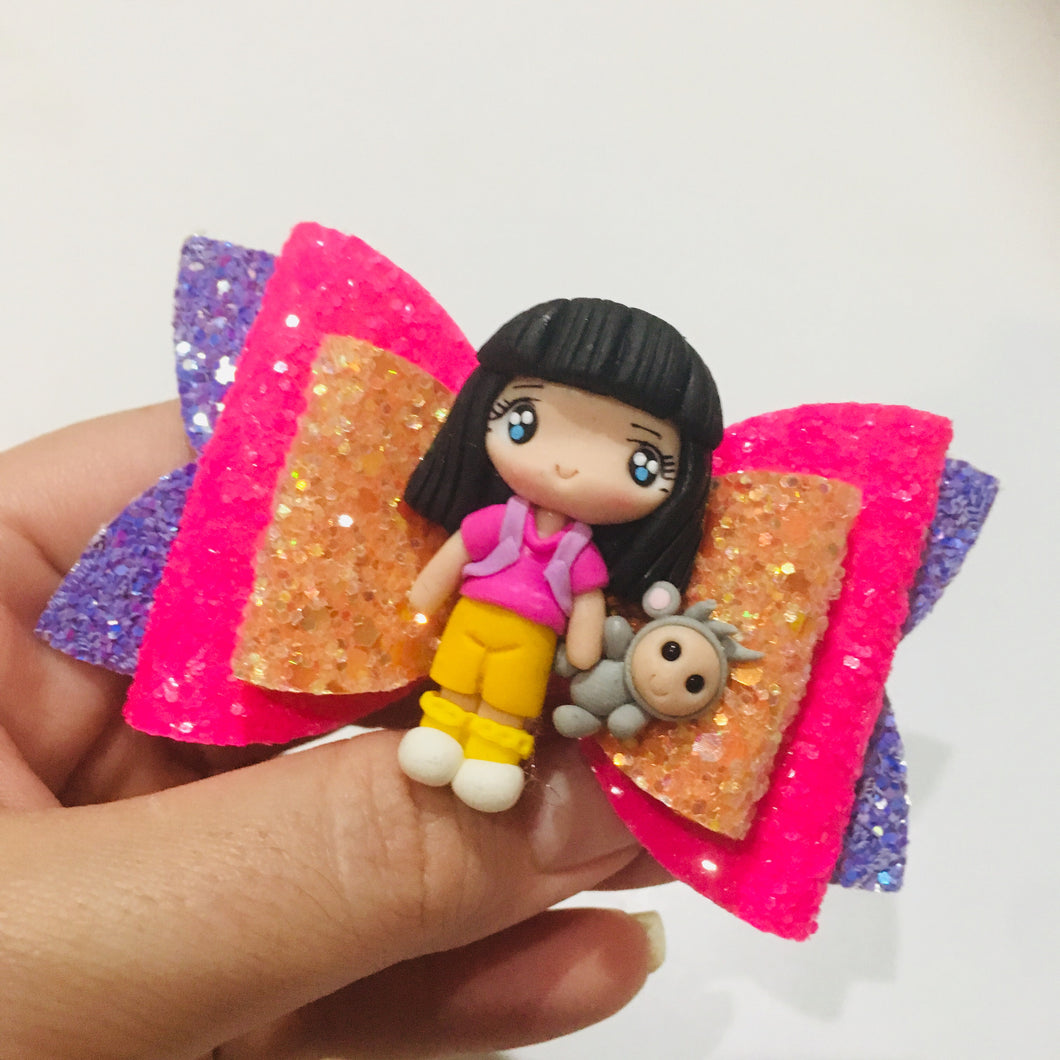 Dora the Explorer Boots Clay bow