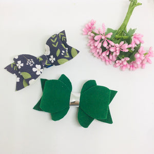 Faux Suede and Leatherette clip pair