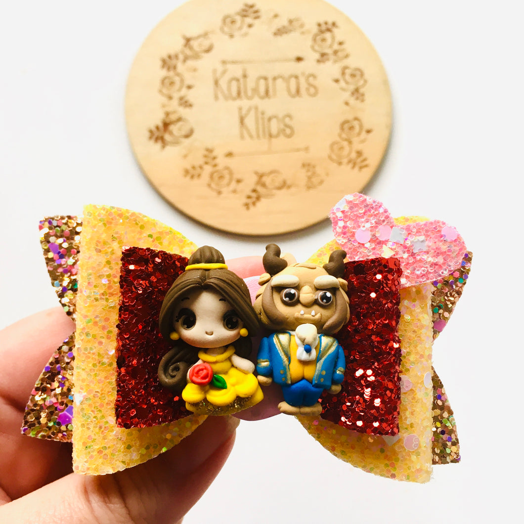 Clay Princess Belle Beast Bow