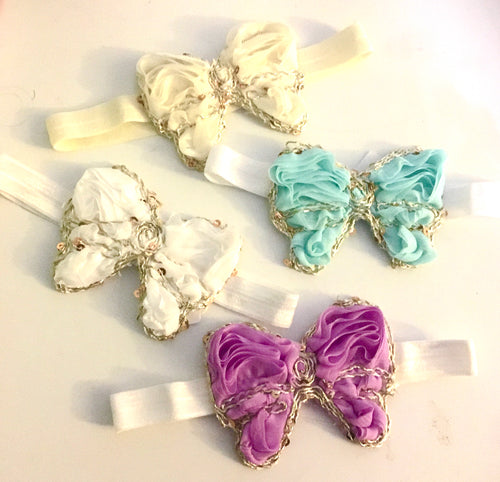 Baby butterfly motif bow - choose colour