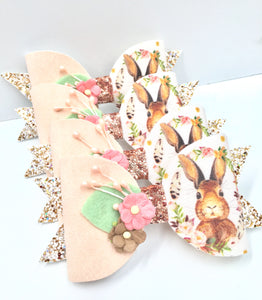 Easter floral bunny Bow