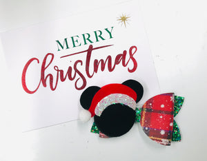 Christmas Mickey Mouse bow