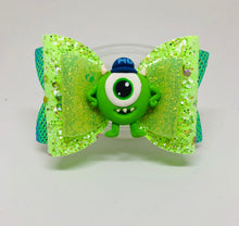 Load image into Gallery viewer, Monsters Inc Mike Bow
