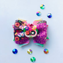 Load image into Gallery viewer, Clay Sugar Skull Fiesta Bow