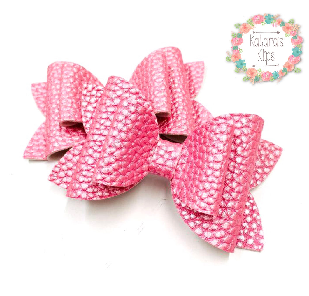 Pastel Pink Double Bow