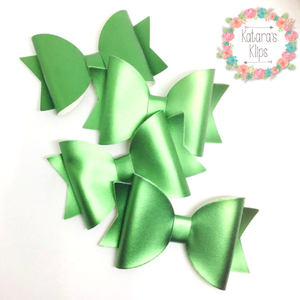 Green Simple Satin Bow