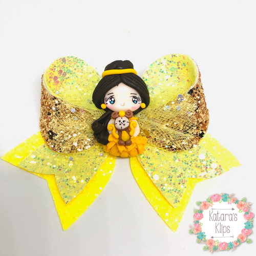 Princess Belle deluxe Fancy Bow