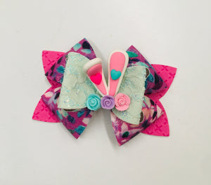 Bunny Ears Clay Bow