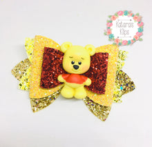 Load image into Gallery viewer, Winnie the Pooh Bear clay Bow