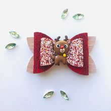 Load image into Gallery viewer, Christmas Reindeer Clay bow