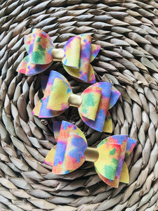 Tie dye Watercolour Everyday Bow