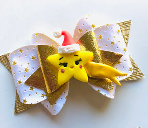 Christmas Nativity Star Clay bow