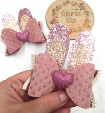 Load image into Gallery viewer, Easter Bunny Pink Glitter Bow Ears