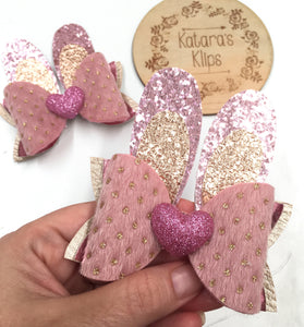 Easter Bunny Pink Glitter Bow Ears