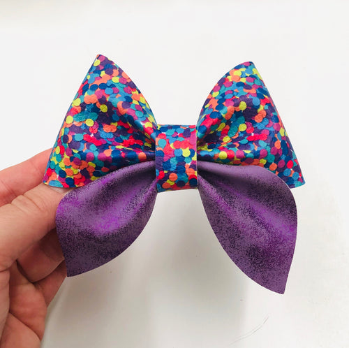 Purple Mix Sailor Bow