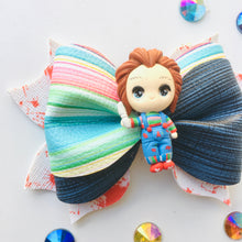Load image into Gallery viewer, Clay Chucky Halloween Bow