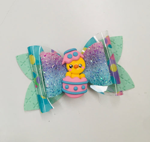 Easter Chicken Egg Clay Bow