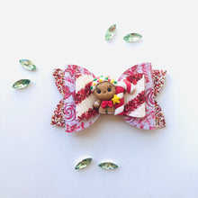 Load image into Gallery viewer, Christmas Gingerbread Clay bow