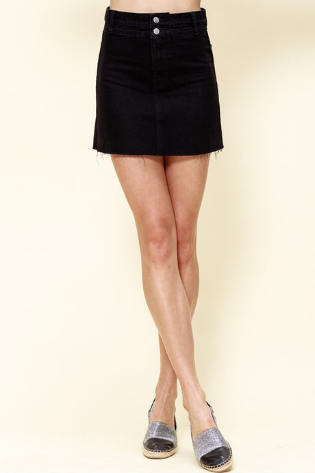 Denim Skirt - Black