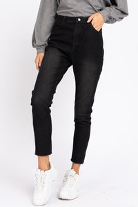 Washed Black Denim