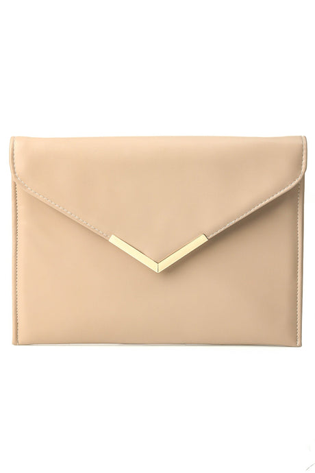 Envelope Evening Purse - Nude