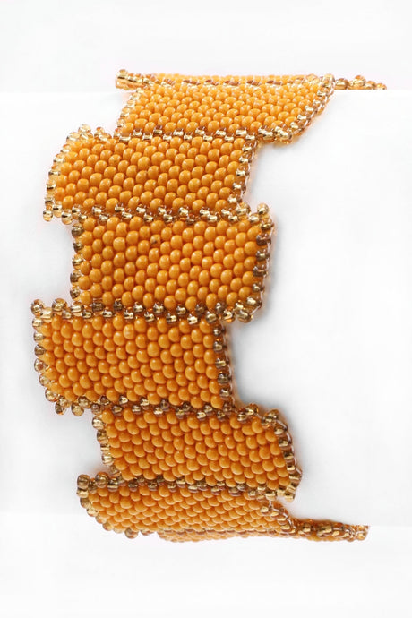 Seed Bead Bracelet - Yellow