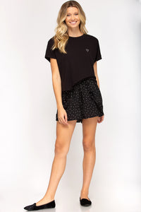 Heart Shorts - Black