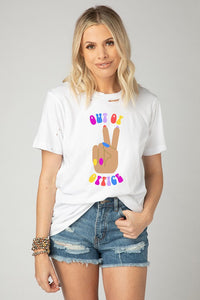 Buddy Love Out Of Office Distressed Graphic Tee