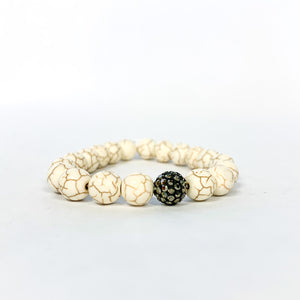 Cracked Stone Bead Bracelet