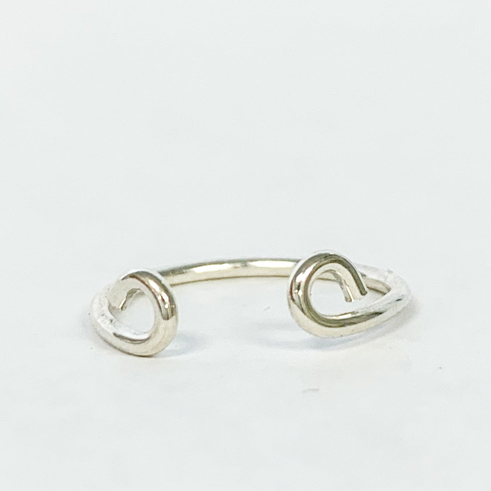 Pixley Pressed Open Curve Ring