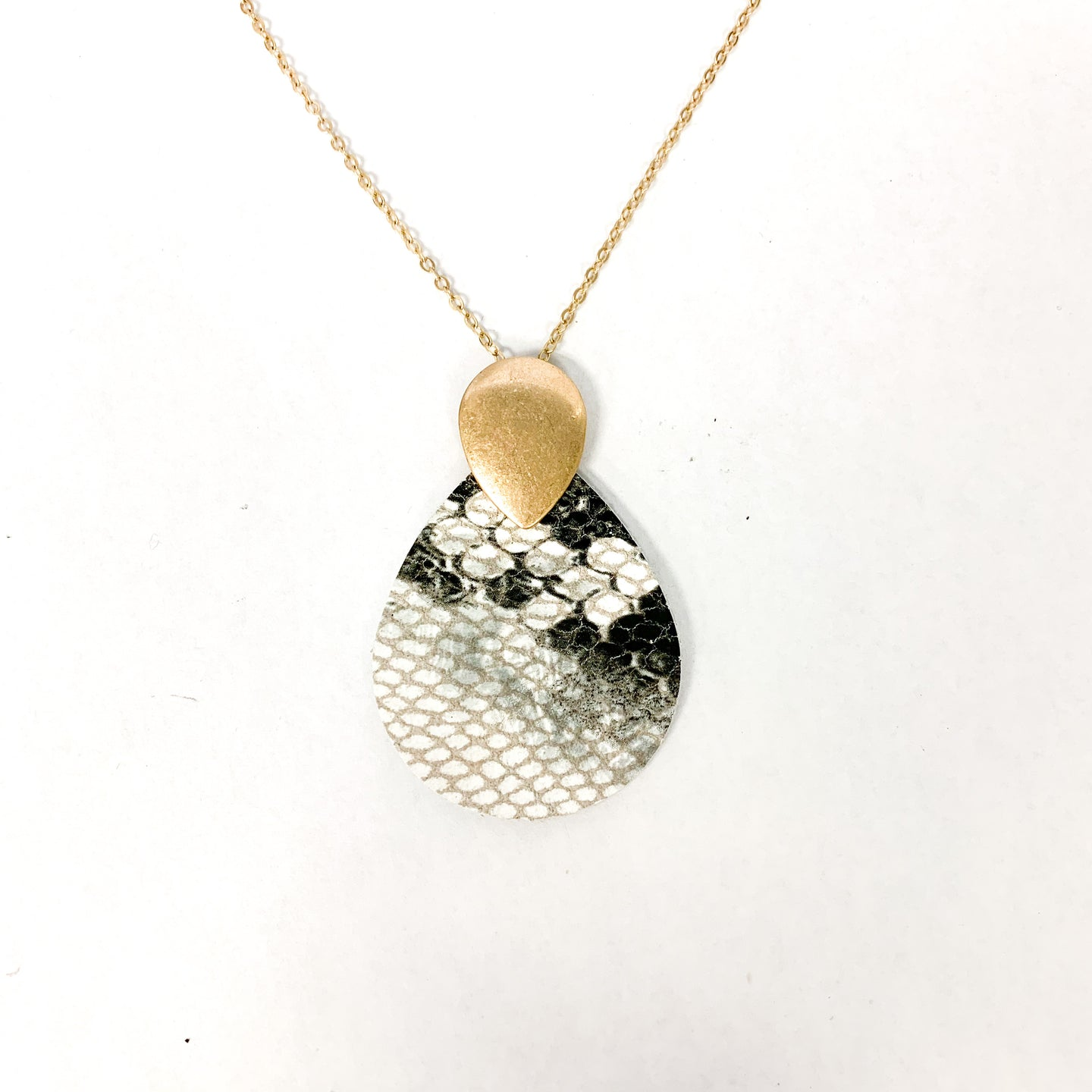 Snakeskin Pendant Necklace