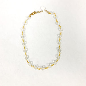 Clear Beaded Short Necklace