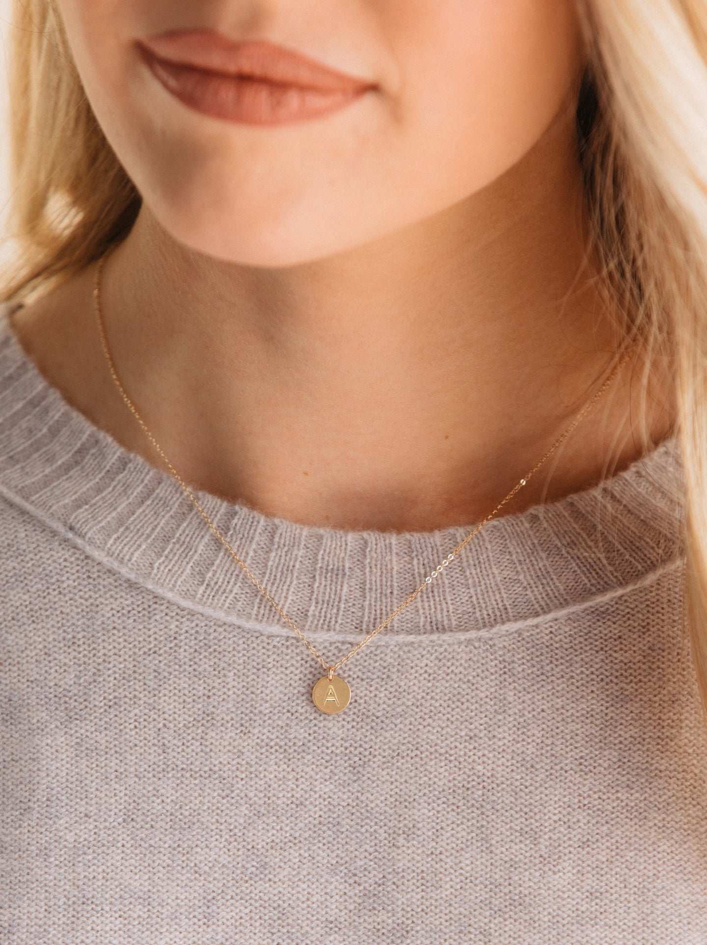 ABLE Mini Initial Necklace - Gold