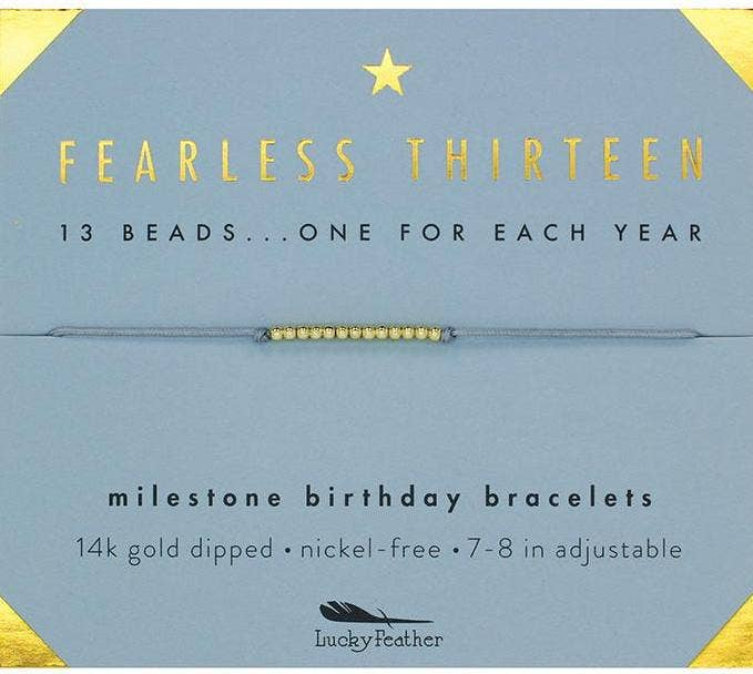 Birthday Bracelet - Thirteen