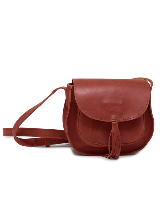 ABLE Maria Tassel Crossbody - Brick Red